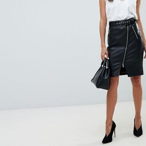 Asos Midi Pencil Skirt with Zipper